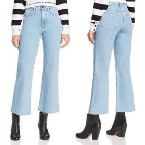 Rag & Bone Wide Leg Ankle Justine Jeans